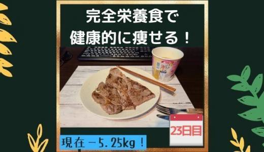 【23日目】完全栄養食「COMPとBASE」をメインで生活したら健康的に痩せられるのか?