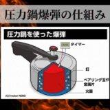 【爆弾】圧力鍋にパチンコ玉を入れて加熱するとどうなるのか?爆薬が無ければ安全かと思いきや…